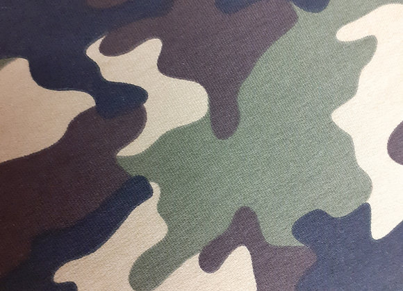Camouflage   French Terry Print