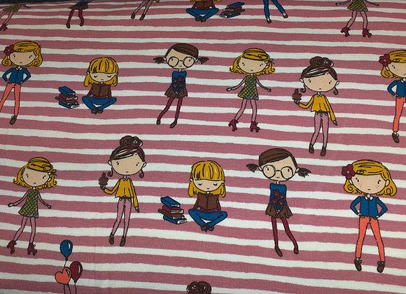 Children on Stripes  rose
