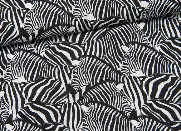Viskose - Daytona Zebra - schwarz weiß - von Swafing