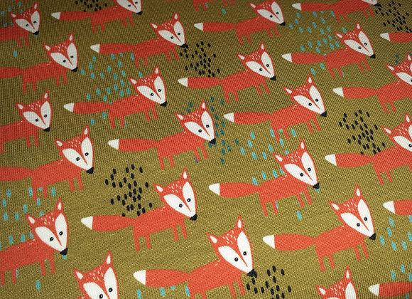 Theo der Fuchs von Jersey von Swafing grün/orange