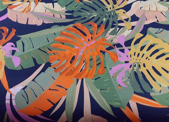 Blätter Cotton Druck von toptex
