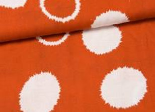 Viskose Leinen - Silas - big dots orange creme von Swafing