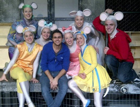 Alison with the cast of Vital Theatre Company's Angelina Ballerina the Musical, Toronto (2011)