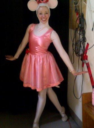 Alison as Angelina Ballerina in the Vital Theatre Company's Angelina Ballerina the Musical, Toronto (2011)