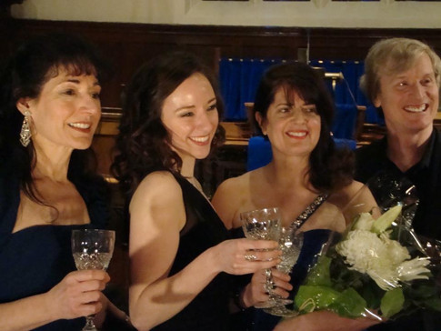 Alison following a Three Sopranos recital with sopranos Maria Case and Ann Sublett (2015)