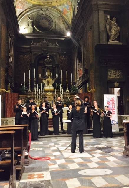 Alison performing with the York University Chamber Choir at San Michele e Gaetano, Florence Italy (2015)