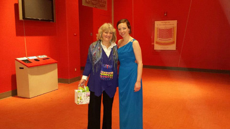 Alison with her mentor and teacher, the incomparable Norma Burrowes