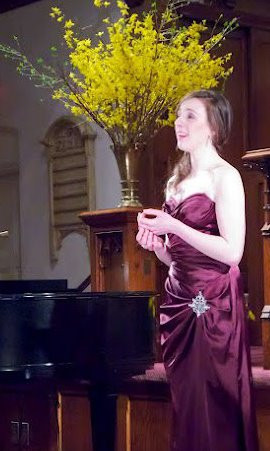 Alison performing in the Three Sopranos recital (2014)