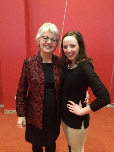 Alison with renowned Mezzo Soprano Catherine Robbin following a performance of Gay's the Beggar's Opera at York University (2014)