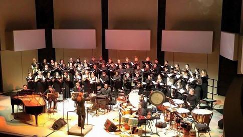 Alison performing Fanshawe's African Sanctus with the York University Concert Choir (2015)