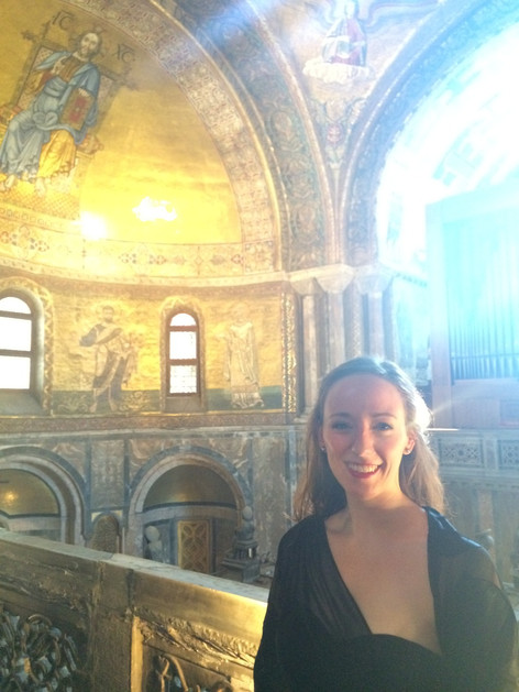 Alison following a performance in St. Mark's Basilica, Venice with the York University Chamber Choir (2015)
