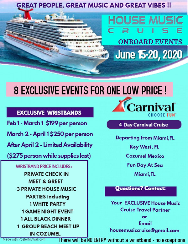 House Cruise Event Wristband Flyer 2 - M