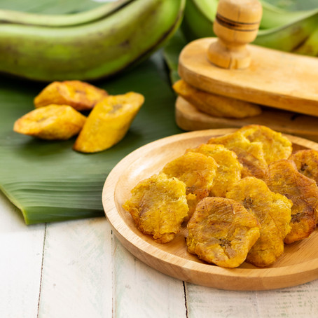 Snack on the go with crushed green plantains.