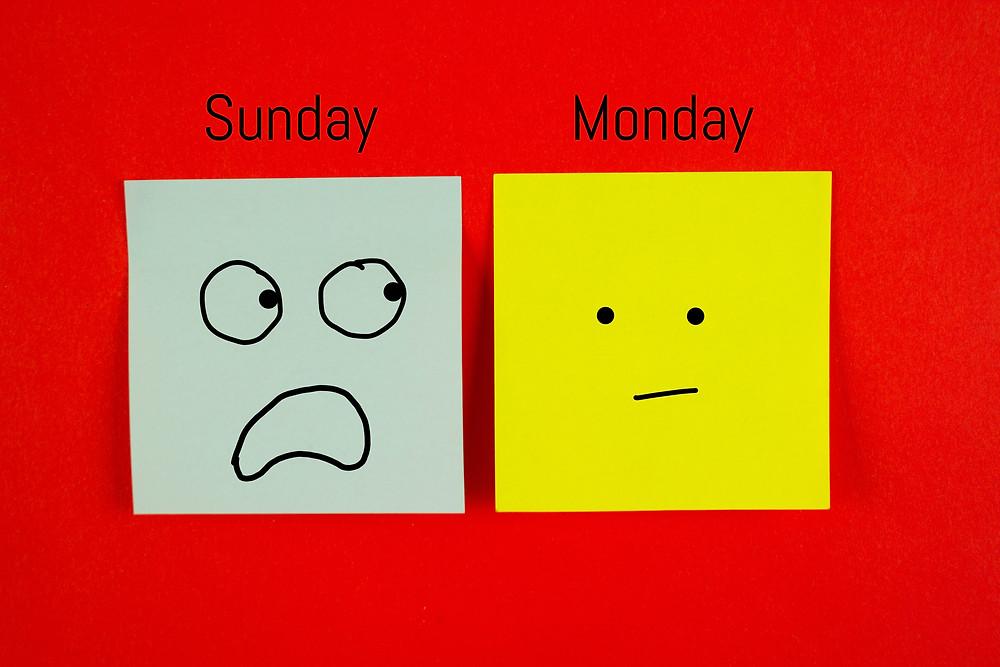 Sunday looking at Monday