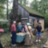 First Friday outside cabin Steve  Lisa.j