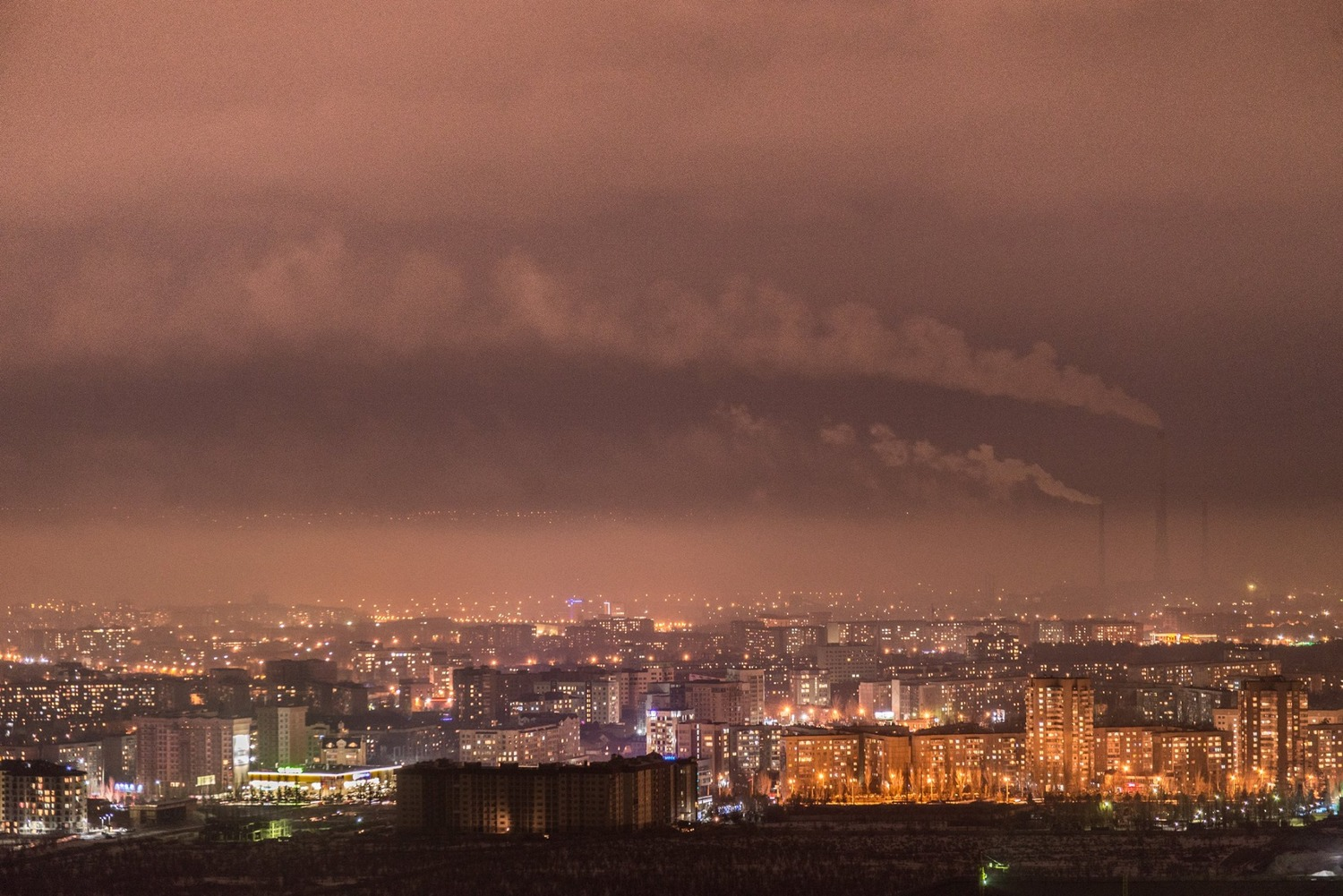 Bishkek night panorama