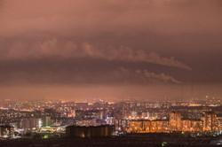 Bishkek night panorama