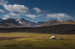 yurt and tent