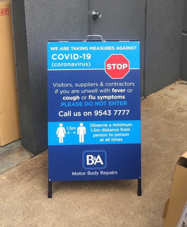 Covid 19 Caronavirus Awareness A Frame Signage