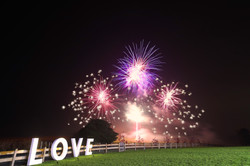 LOVE Letters Fire Works