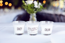 PLACE CARD CANDLES
