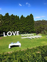 Giant Love letters