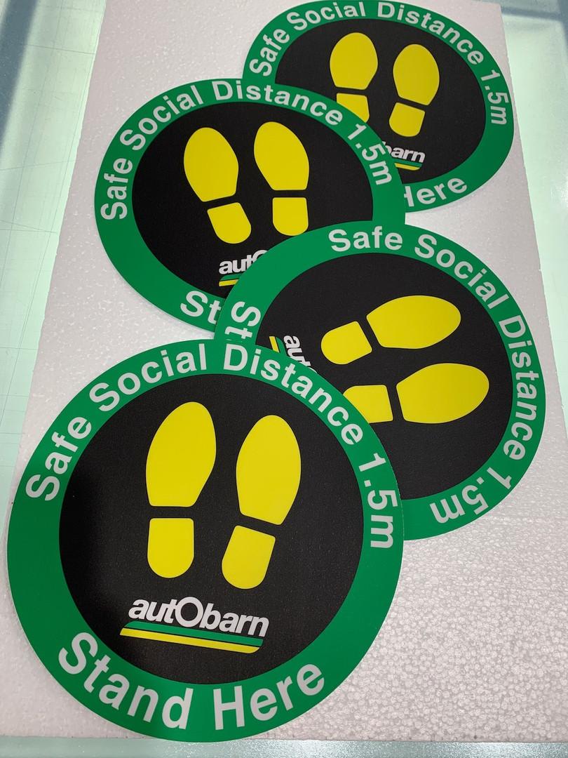 Autobarn Social Distance Floor Decals