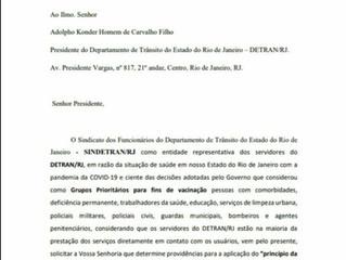 Resposta ao Ofício 28/2021, enviado a Presidência do SINDETRAN RJ