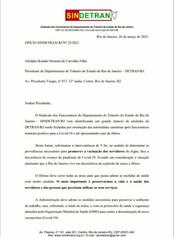 SINDETRAN RJ PROTOCOLA OFÍCIO DE SOLICITAÇÃO DE PRIORIDADE PARA VACINAÇÃO  DOS SERVIDORES DETRAN RJ