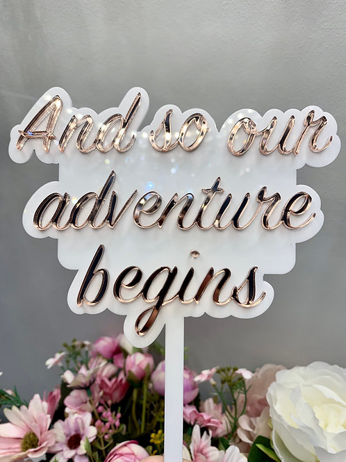 Our adventure cake topper