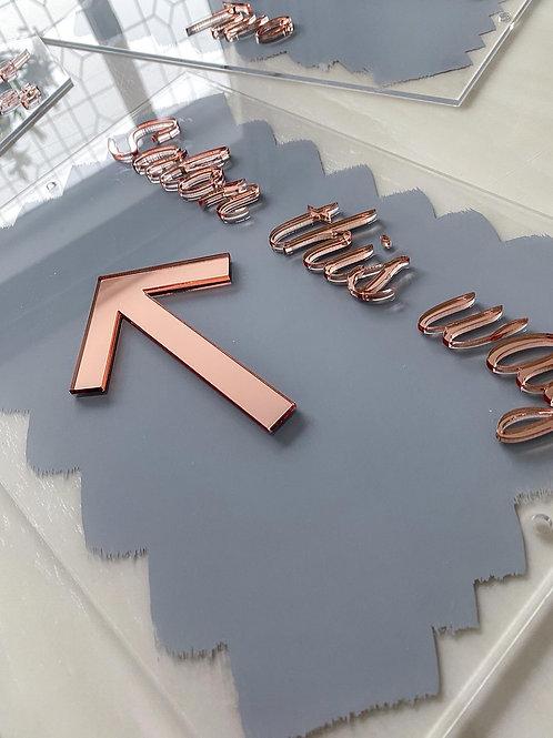 Salon this way 3D acrylic sign