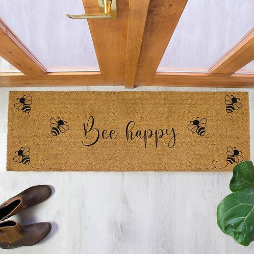 Bee Happy Extra Large Double Doormat