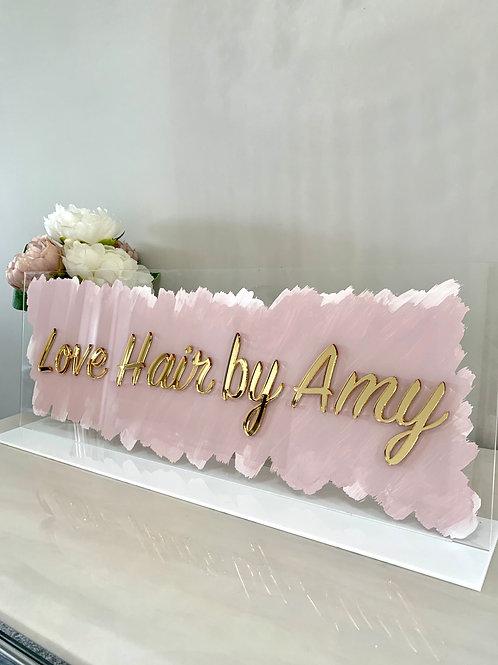 3D name acrylic mirror name sign