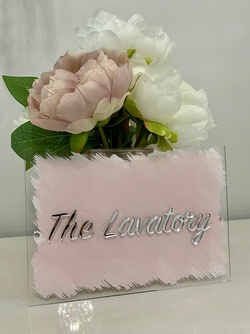 The Lavatory 3D acrylic sign