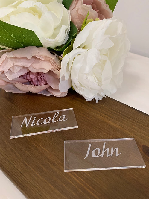 Acrylic rectangle place name settings