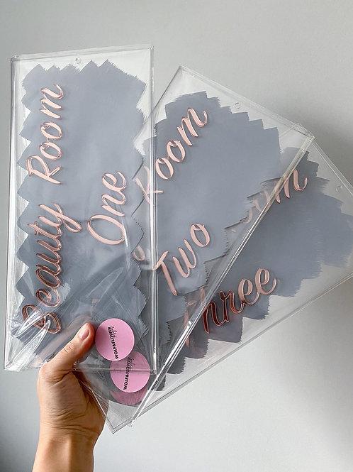 3D brand acrylic mirror sign