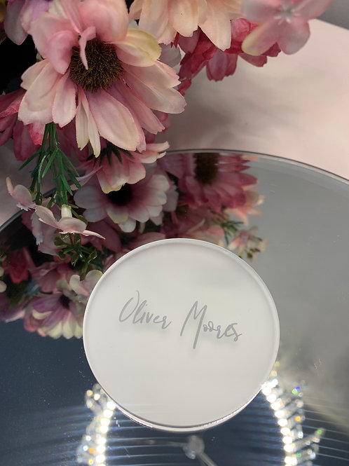 Acrylic circle place name settings - frost
