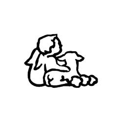 Barn-med-lam