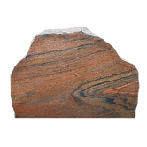 Poleret brun natursten