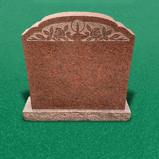 Gravsten som er et monument og poleret med dekoration som har smukke detaljer