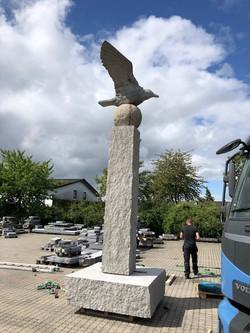 Erik Heide skulptur - Henne Strand