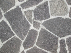 Krydsmur i granit