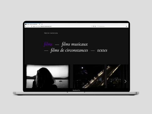 2020 — Site web de Fabrice Lauterjung