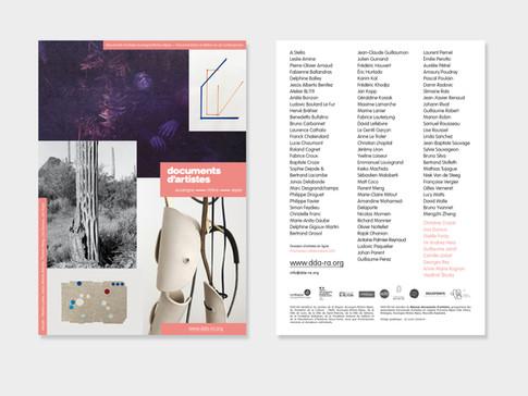 2021 — Flyer annuel de Documents d'artistes Auvergne-Rhône-Alpes
