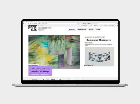 2020 — Site web de La BF15 - Espace d'art contemporain