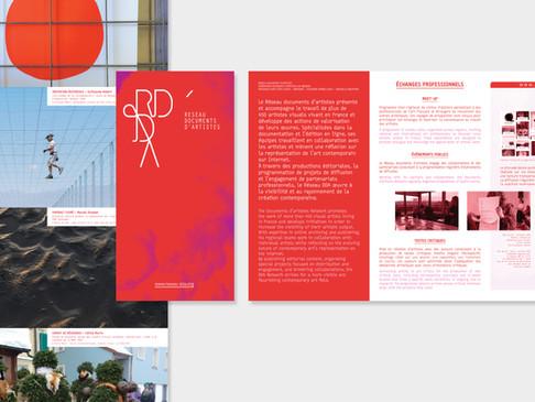 2019 — Flyer annuel du Réseau documents d'artistes