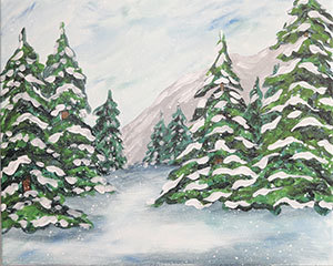 snow on the pines.png