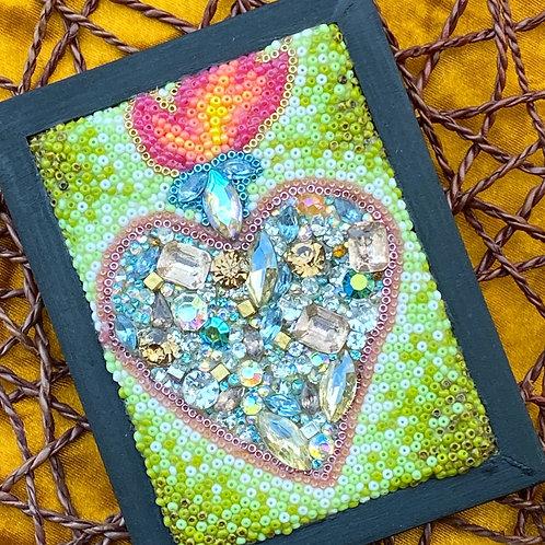 Framed Mini ♥️: Vintage Jeweled ♥️