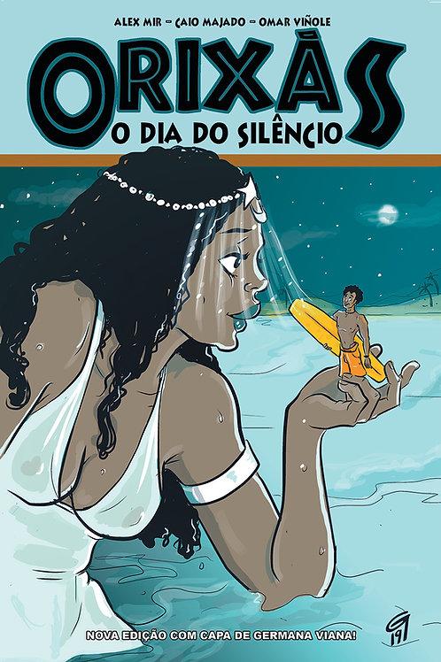 Orixás - o Dia do Silêncio: Capa por Germana Viana