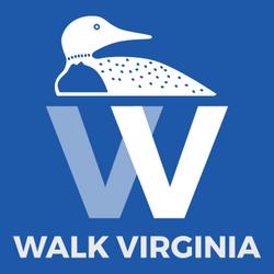 walkvirginialogowithwriting_whitewithblu